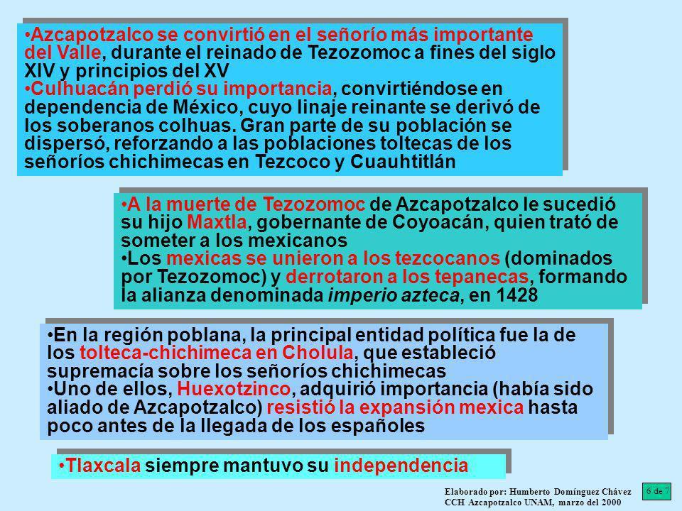 Tlaxcala siempre mantuvo su independencia