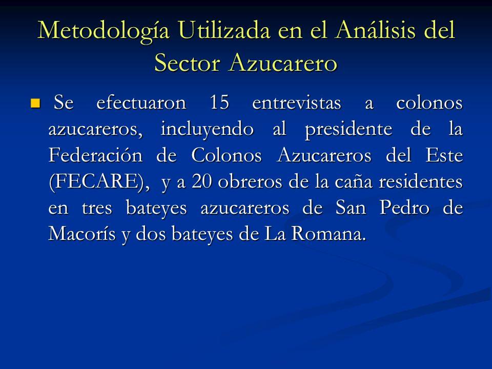 Metodología Utilizada en el Análisis del Sector Azucarero