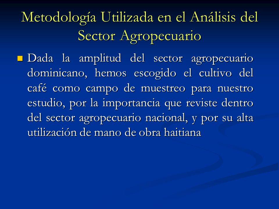 Metodología Utilizada en el Análisis del Sector Agropecuario