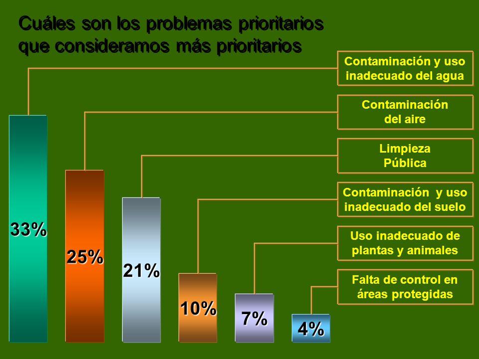 Cuáles son los problemas prioritarios