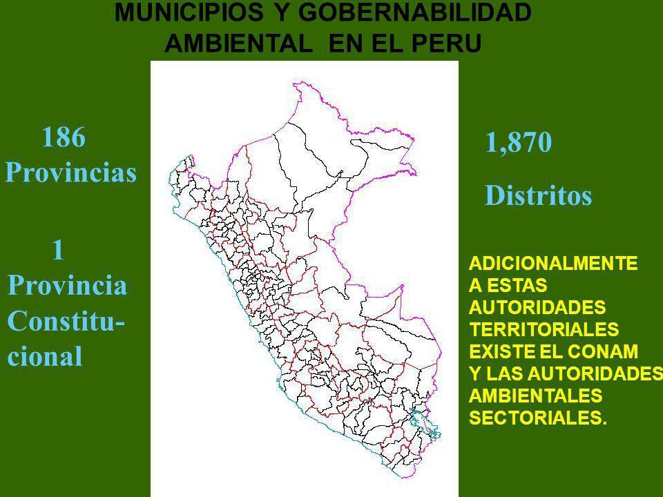 MUNICIPIOS Y GOBERNABILIDAD AMBIENTAL EN EL PERU