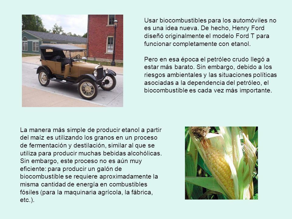 Usar biocombustibles para los automóviles no es una idea nueva