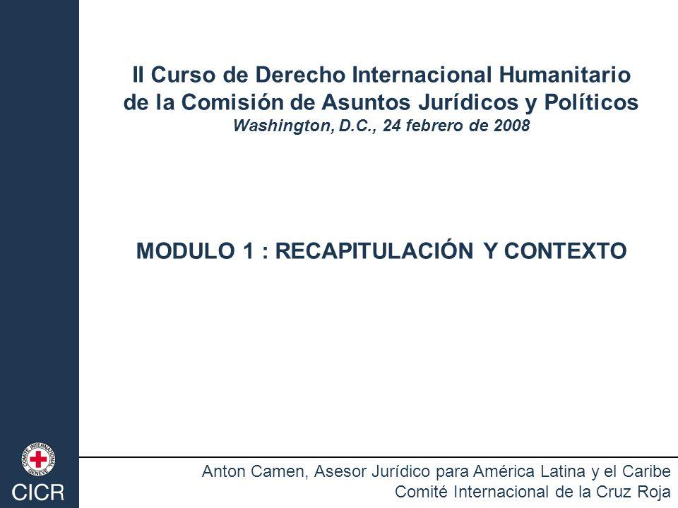 II Curso de Derecho Internacional Humanitario
