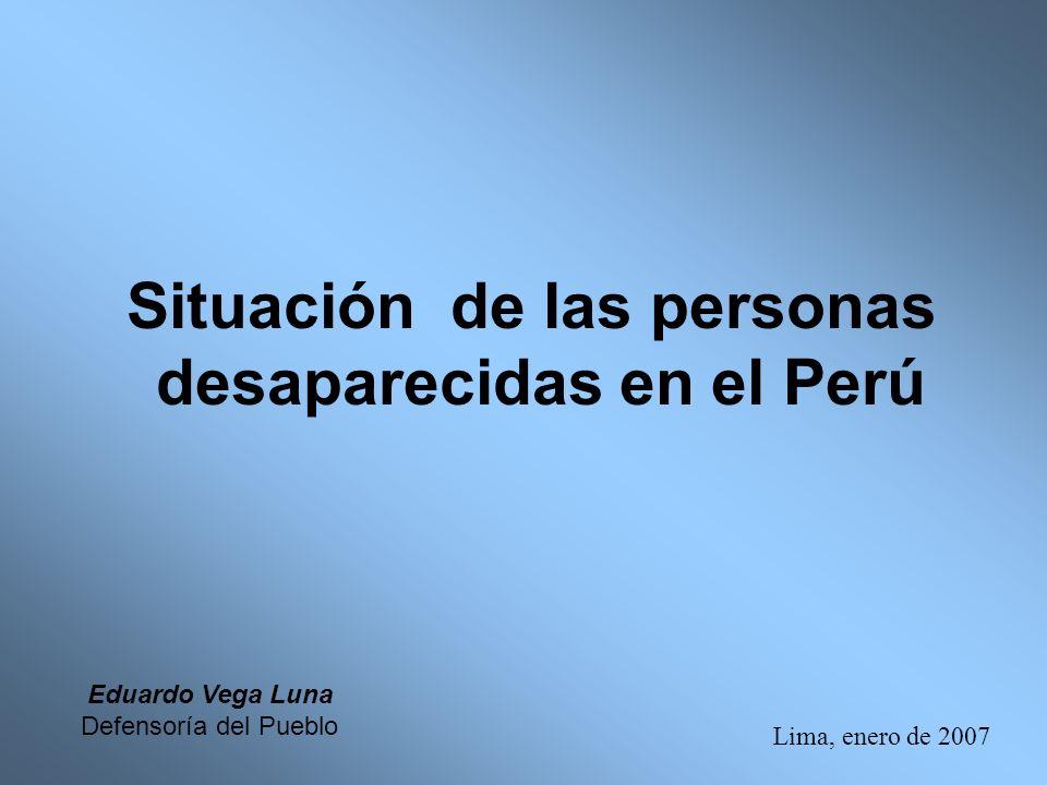 Situación de las personas desaparecidas en el Perú
