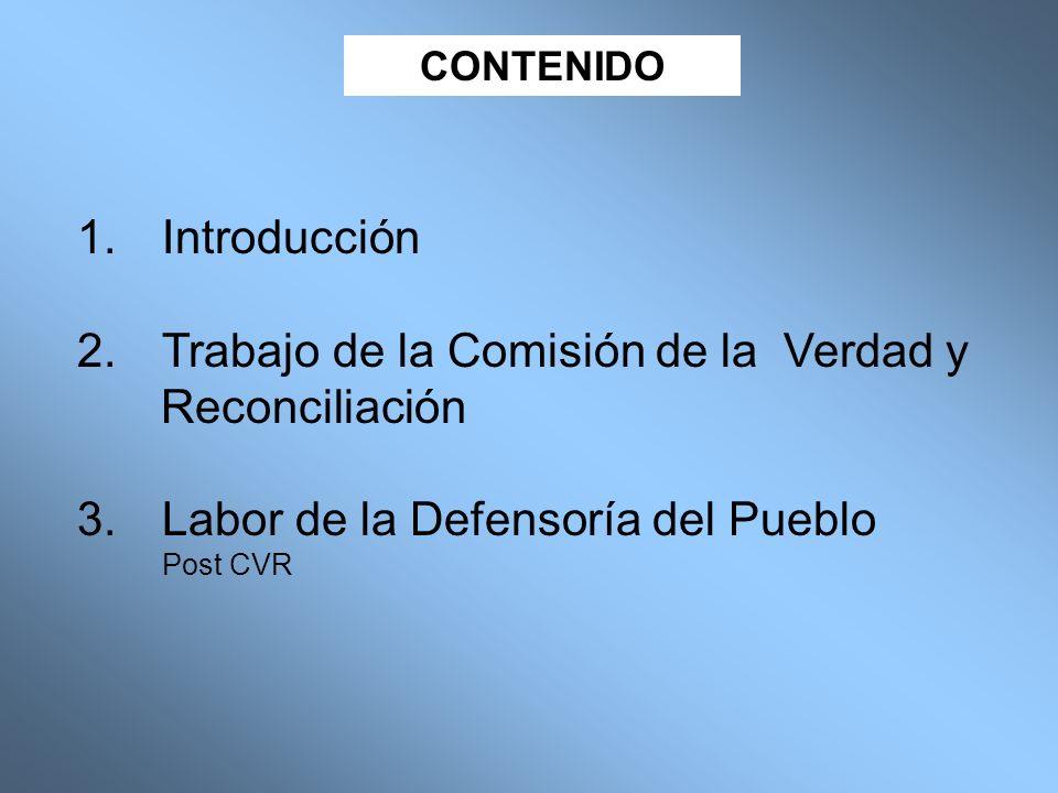 Trabajo de la Comisión de la Verdad y Reconciliación