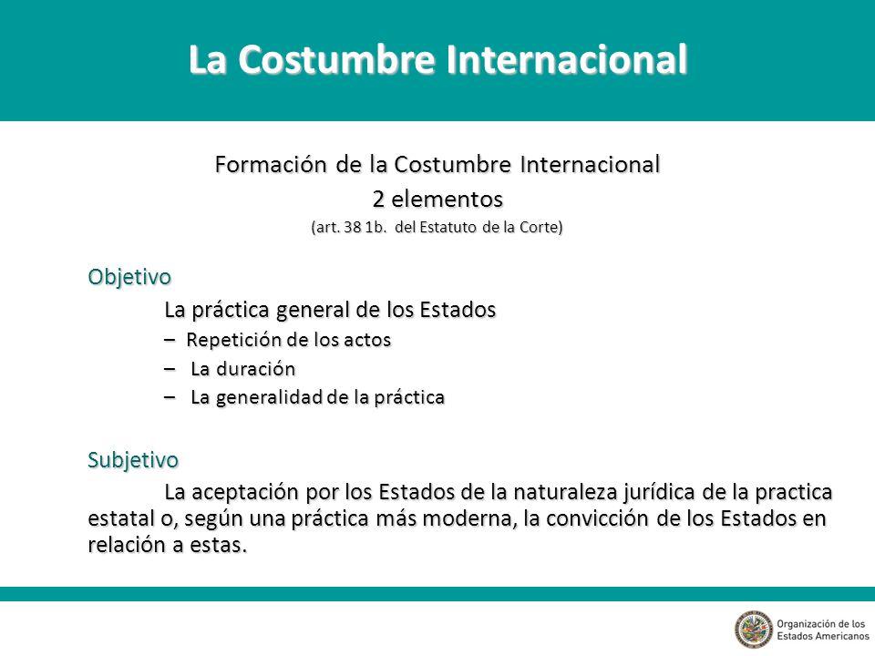 La Costumbre Internacional