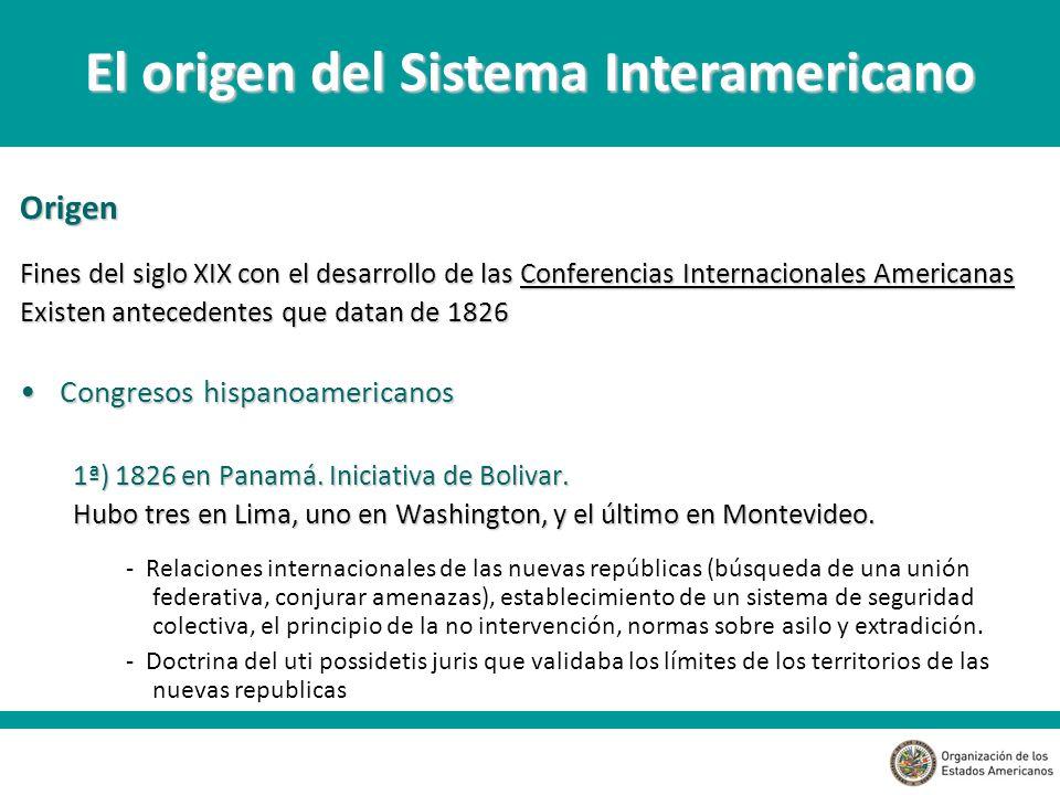 El origen del Sistema Interamericano