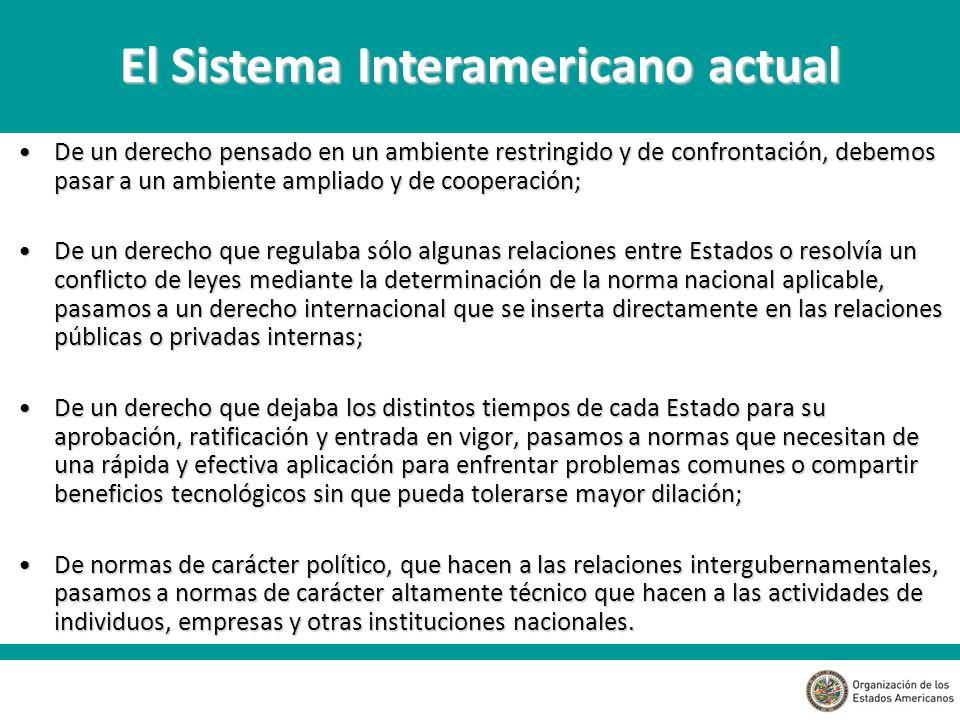 El Sistema Interamericano actual
