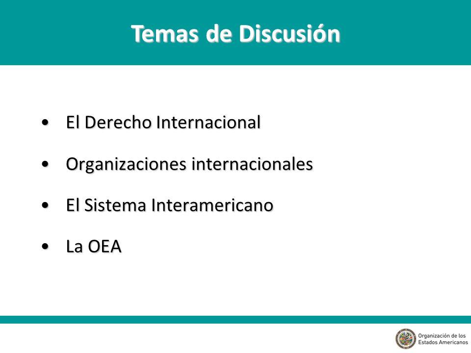 Temas de Discusión El Derecho Internacional