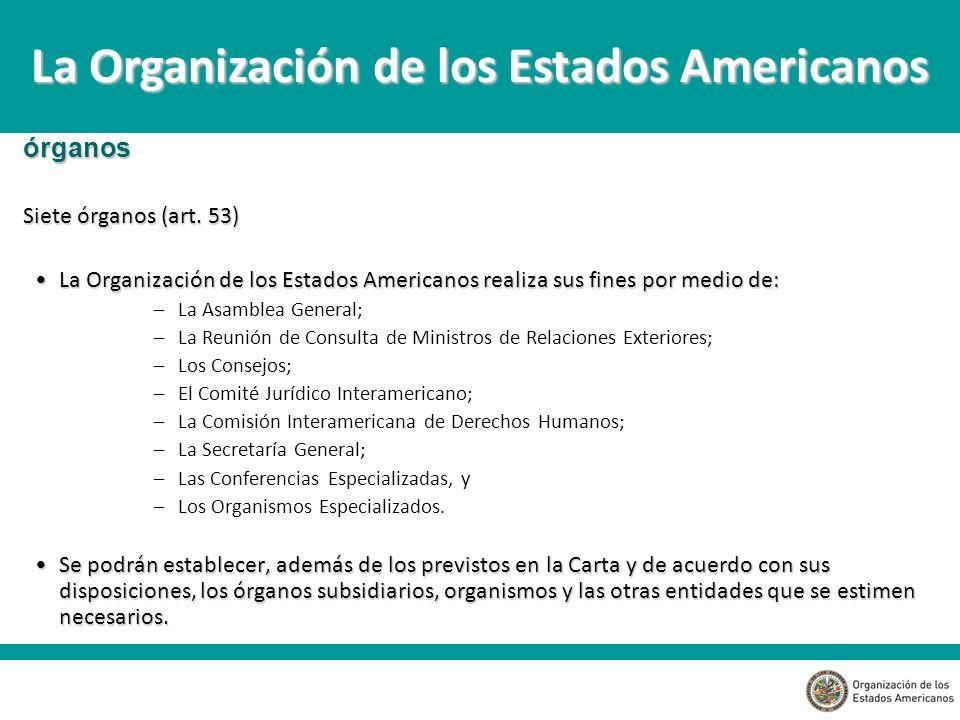 La Organización de los Estados Americanos