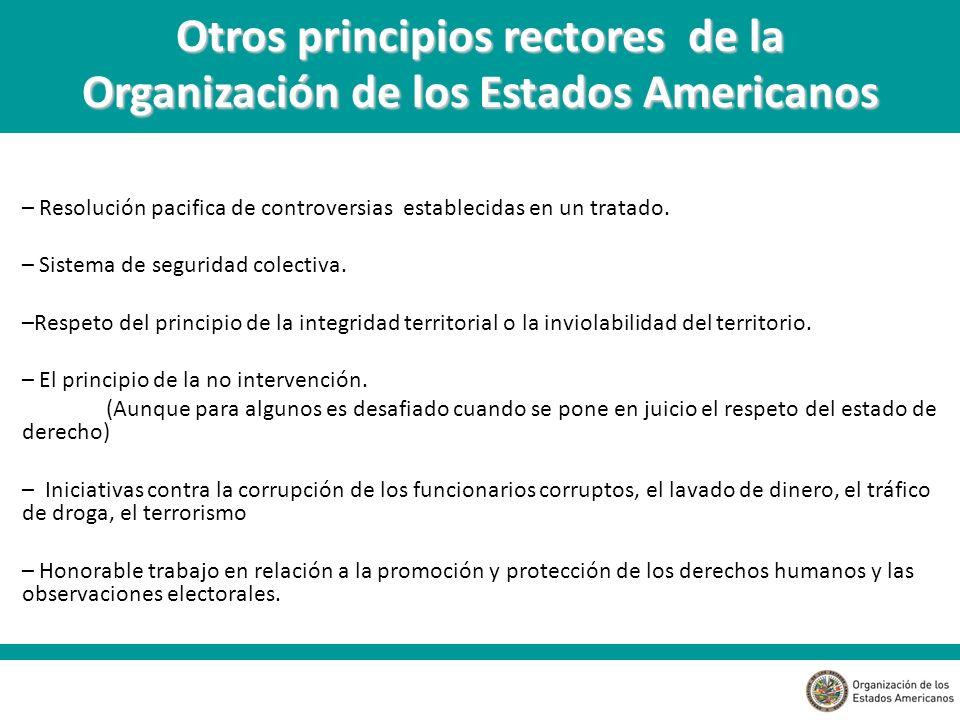 Otros principios rectores de la Organización de los Estados Americanos