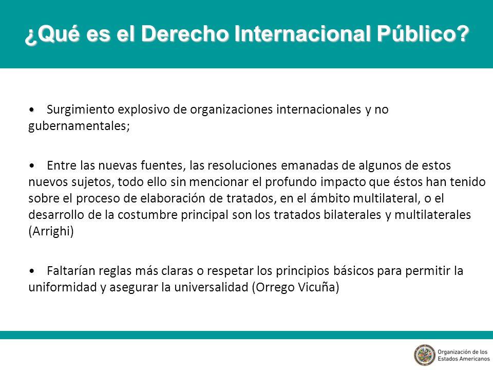 ¿Qué es el Derecho Internacional Público