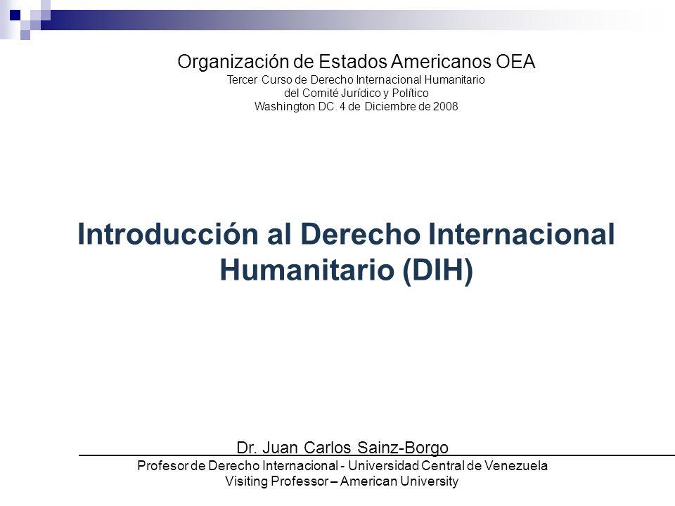 Introducción al Derecho Internacional Humanitario (DIH)