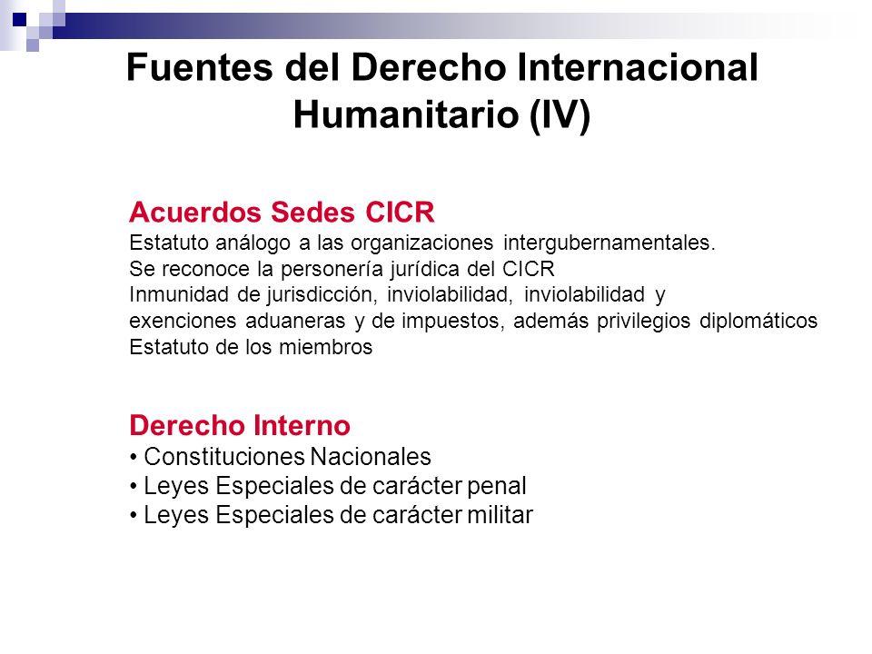 Fuentes del Derecho Internacional Humanitario (IV)