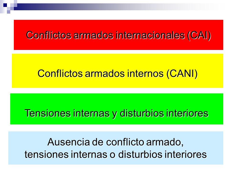 Conflictos armados internacionales (CAI)