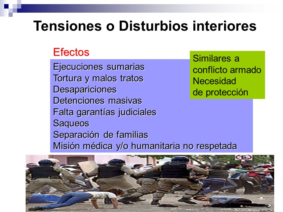 Tensiones o Disturbios interiores