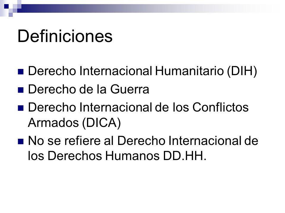 Definiciones Derecho Internacional Humanitario (DIH)