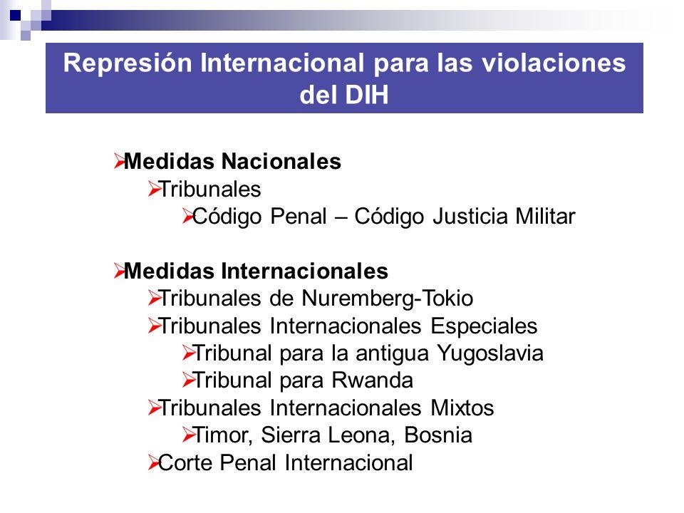 Represión Internacional para las violaciones del DIH