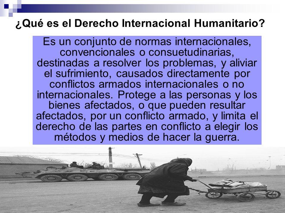 ¿Qué es el Derecho Internacional Humanitario
