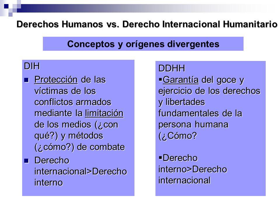 Derechos Humanos vs. Derecho Internacional Humanitario