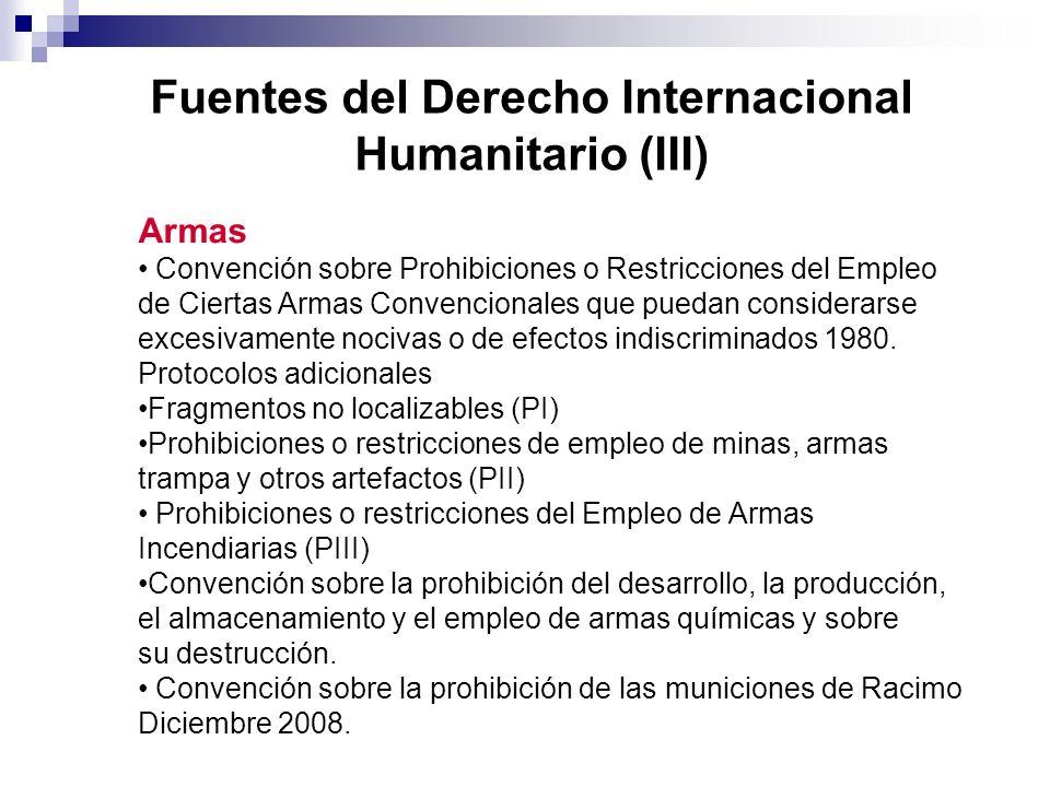 Fuentes del Derecho Internacional Humanitario (III)