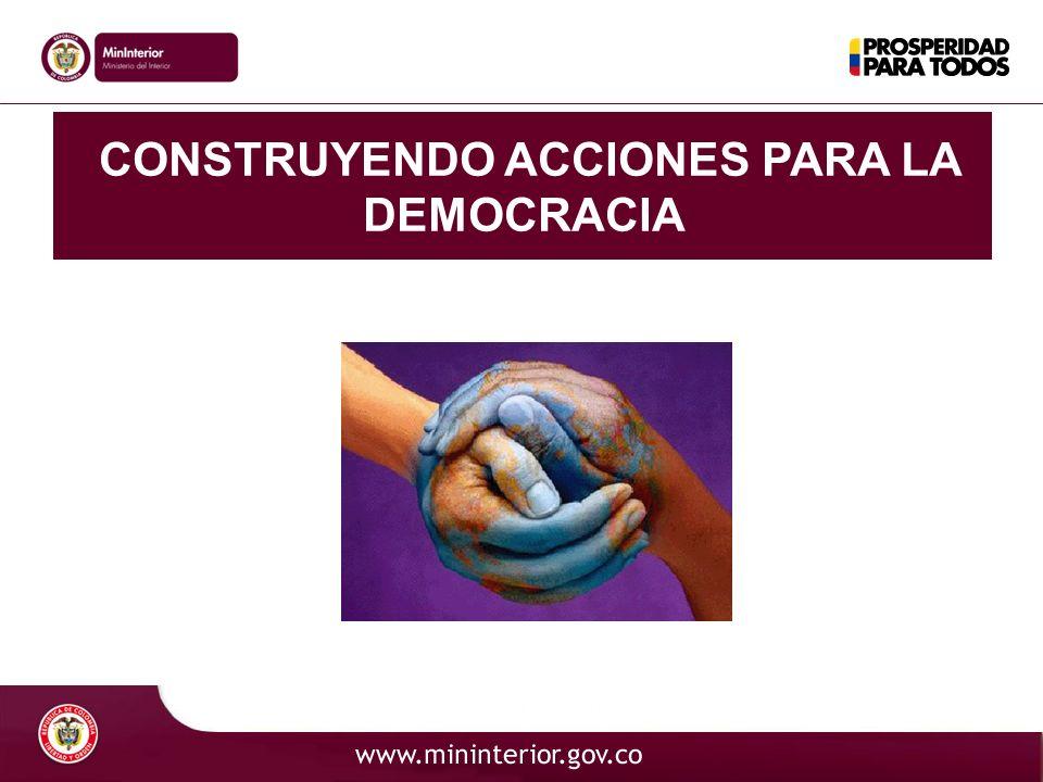 CONSTRUYENDO ACCIONES PARA LA DEMOCRACIA