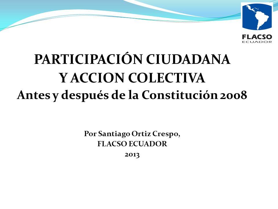 PARTICIPACIÓN CIUDADANA Y ACCION COLECTIVA