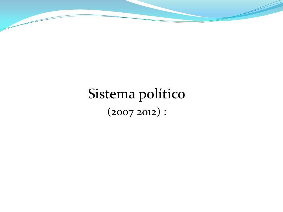 Sistema político (2007 2012) :