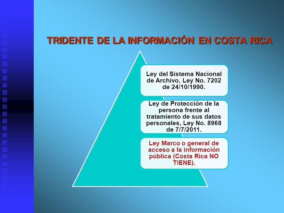 TRIDENTE DE LA INFORMACIÓN EN COSTA RICA