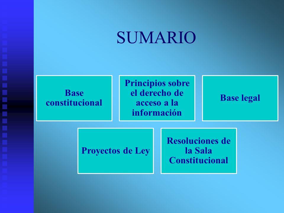 SUMARIO Base constitucional