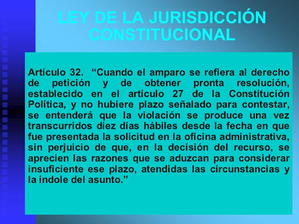 LEY DE LA JURISDICCIÓN CONSTITUCIONAL