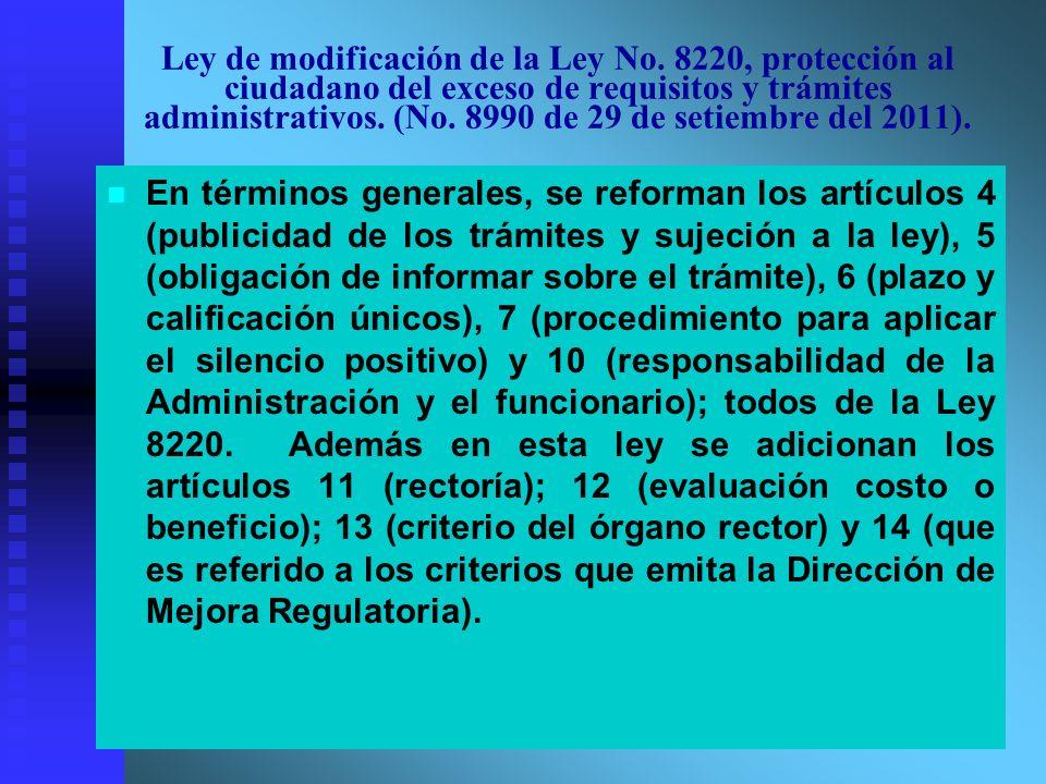 Ley de modificación de la Ley No