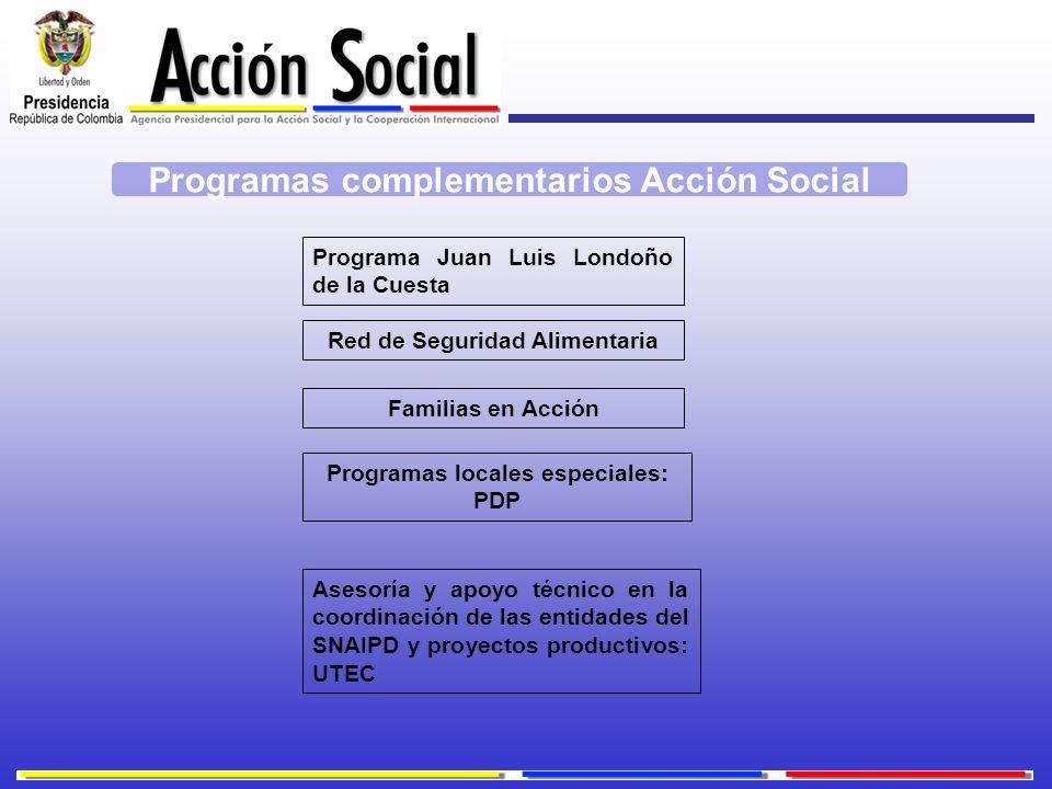 Programas complementarios Acción Social