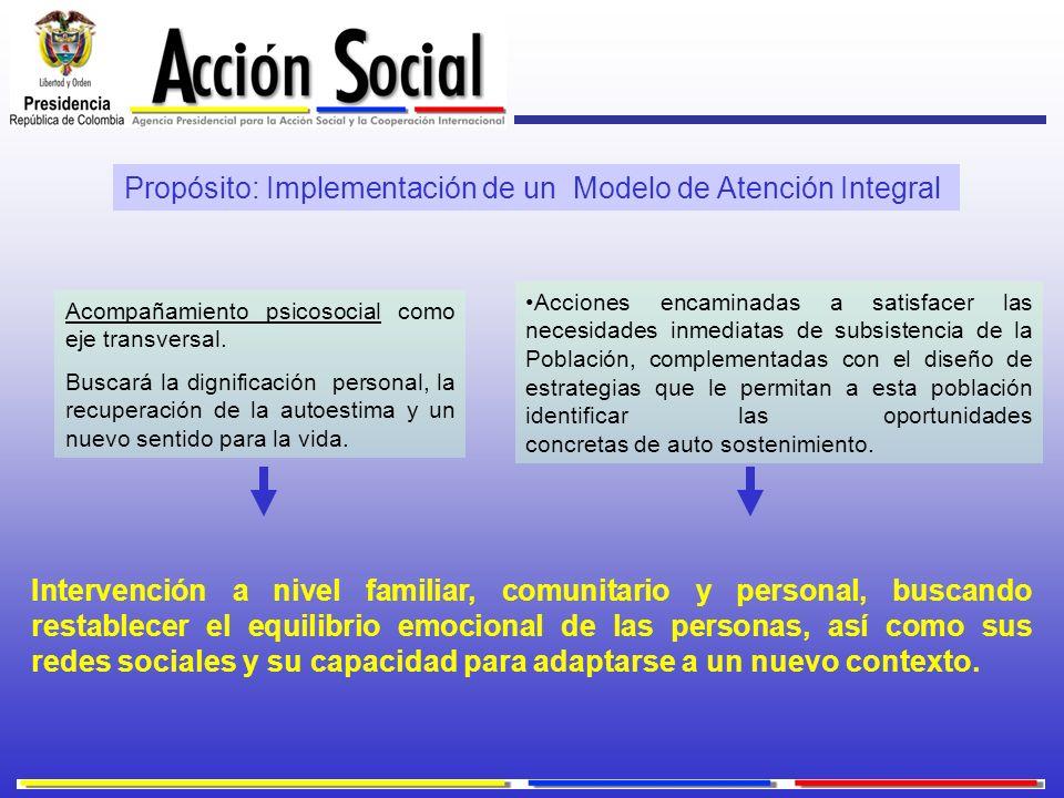 Propósito: Implementación de un Modelo de Atención Integral