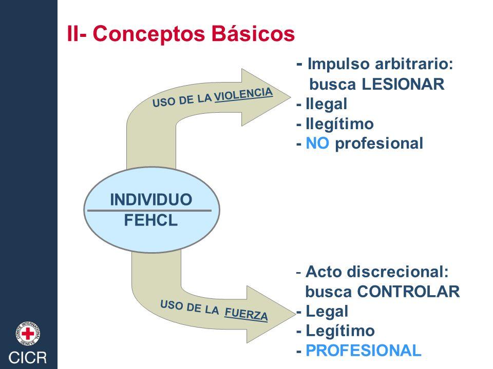 II- Conceptos Básicos - Impulso arbitrario: busca LESIONAR - Ilegal