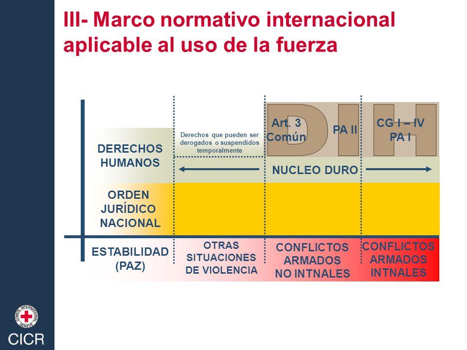DIH III- Marco normativo internacional aplicable al uso de la fuerza