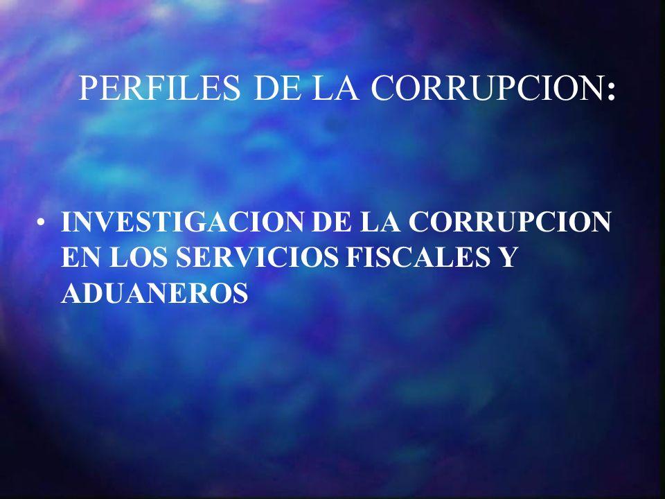 PERFILES DE LA CORRUPCION: