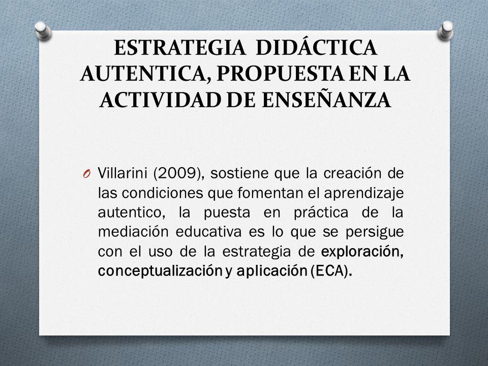 ESTRATEGIA DIDÁCTICA AUTENTICA, PROPUESTA EN LA ACTIVIDAD DE ENSEÑANZA