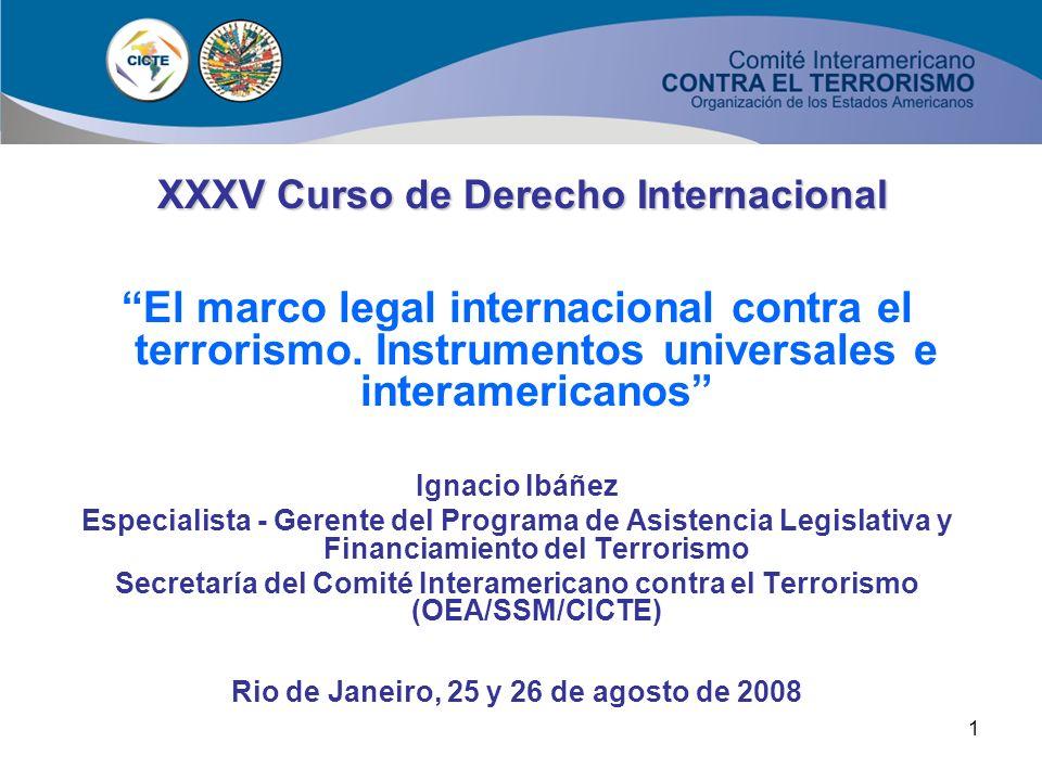 XXXV Curso de Derecho Internacional
