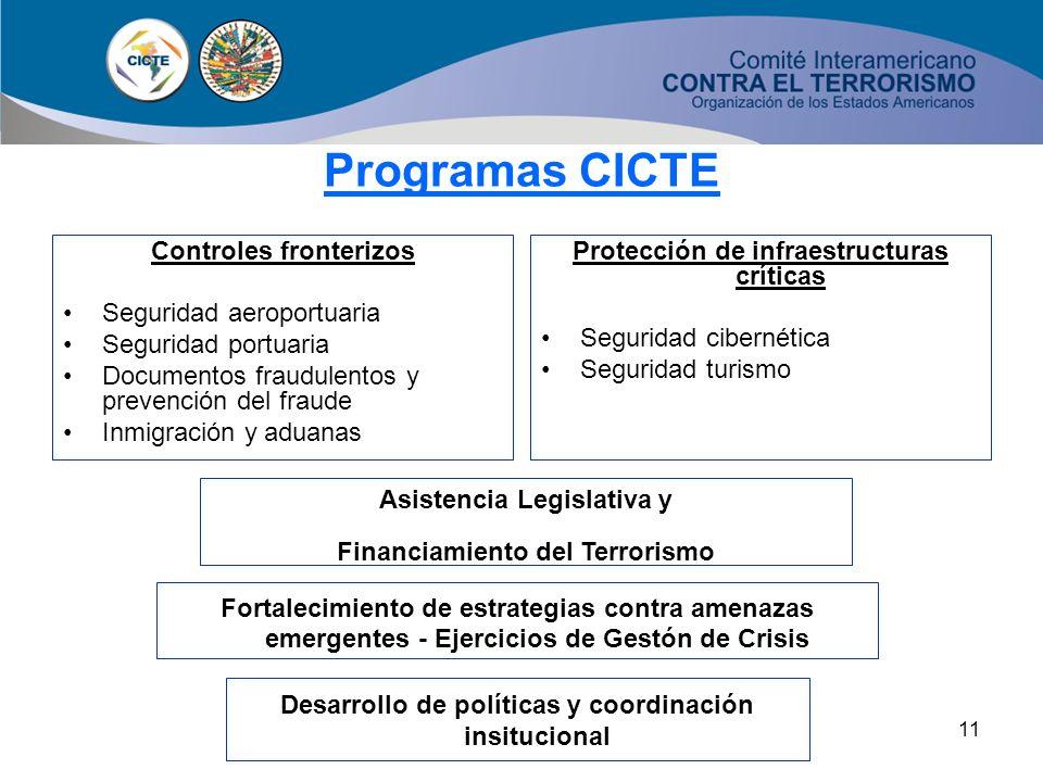 Programas CICTE Controles fronterizos Seguridad aeroportuaria