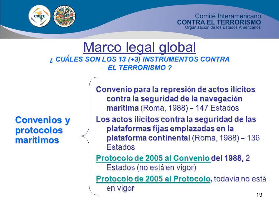 ¿ CUÁLES SON LOS 13 (+3) INSTRUMENTOS CONTRA EL TERRORISMO