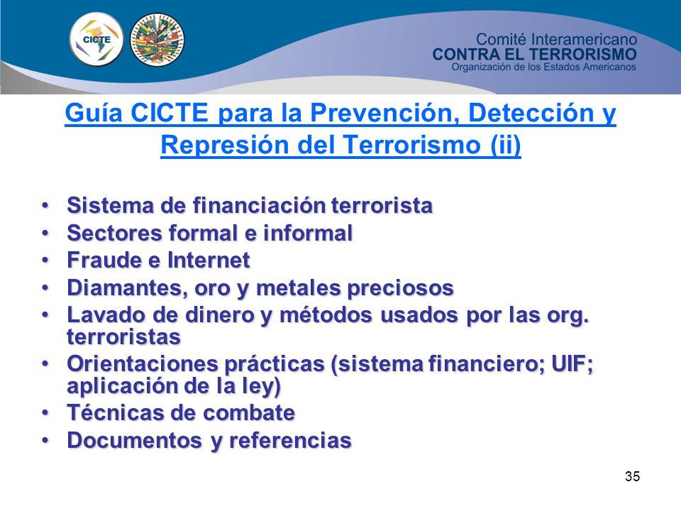 Guía CICTE para la Prevención, Detección y Represión del Terrorismo (ii)