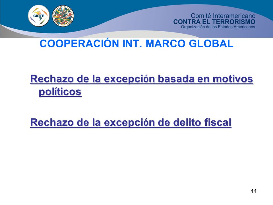 COOPERACIÓN INT. MARCO GLOBAL