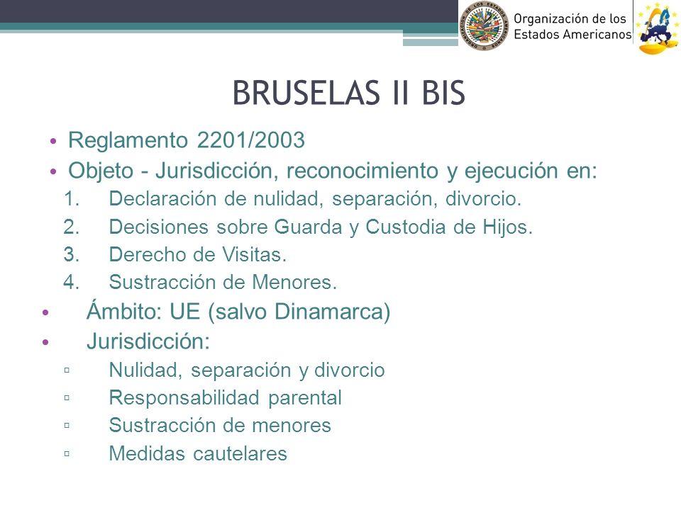 BRUSELAS II BIS Reglamento 2201/2003