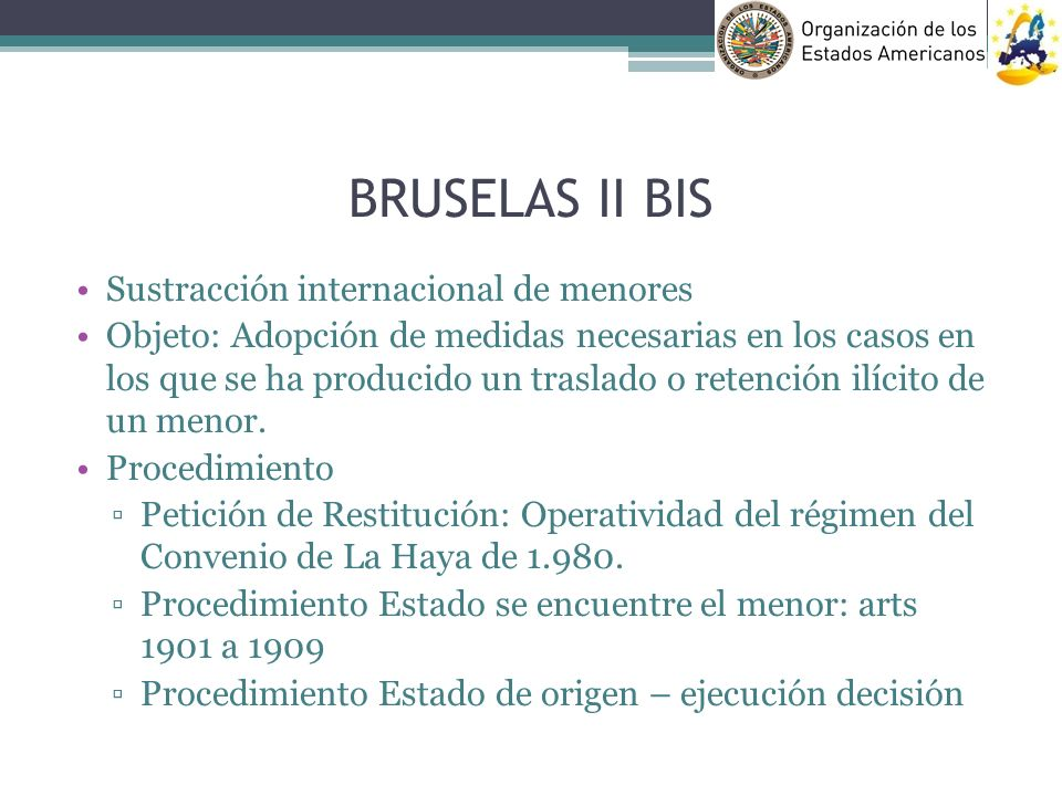 BRUSELAS II BIS Sustracción internacional de menores