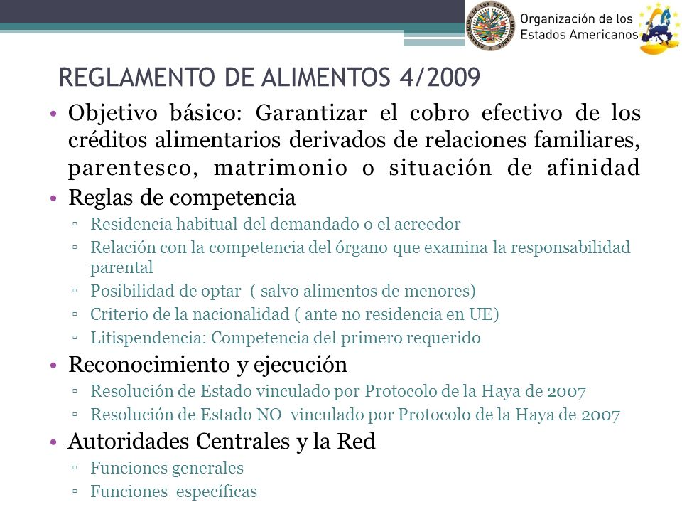 REGLAMENTO DE ALIMENTOS 4/2009