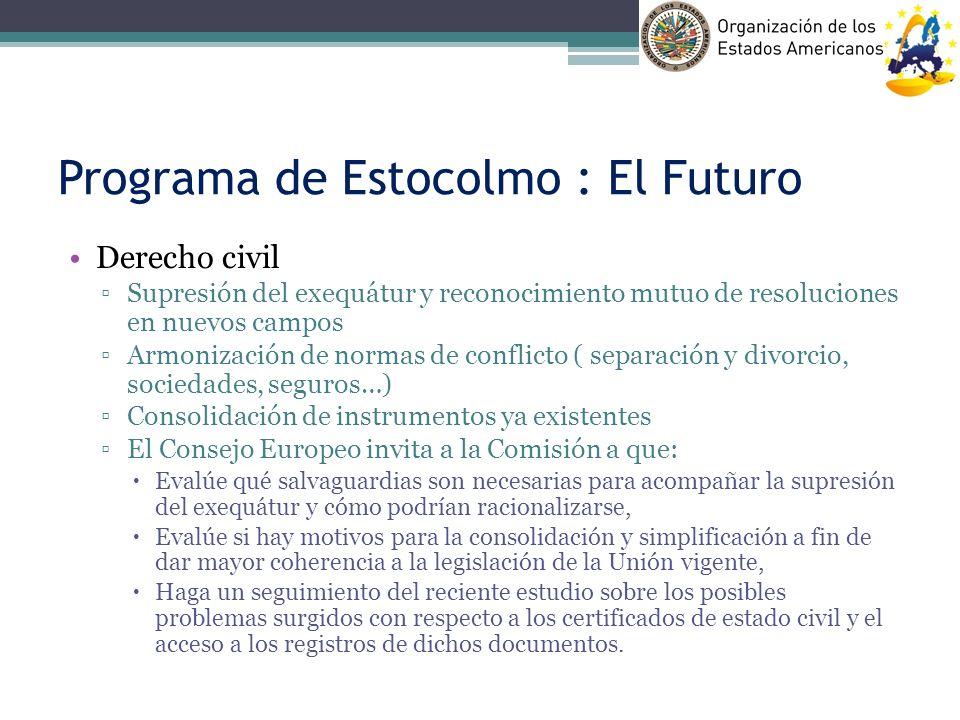 Programa de Estocolmo : El Futuro