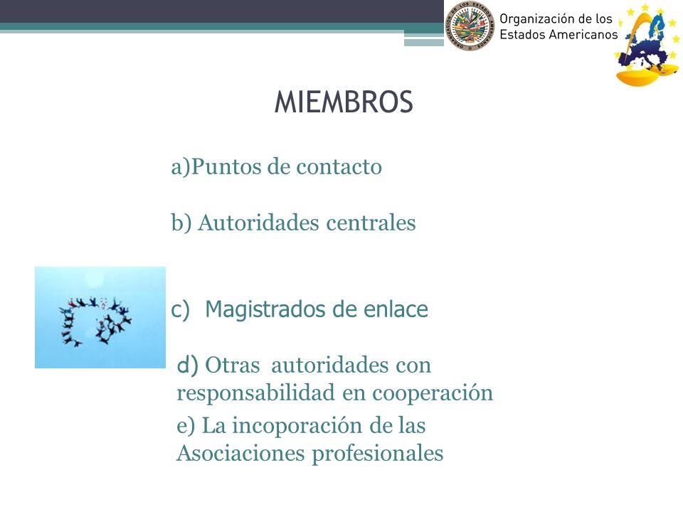 MIEMBROS a)Puntos de contacto b) Autoridades centrales