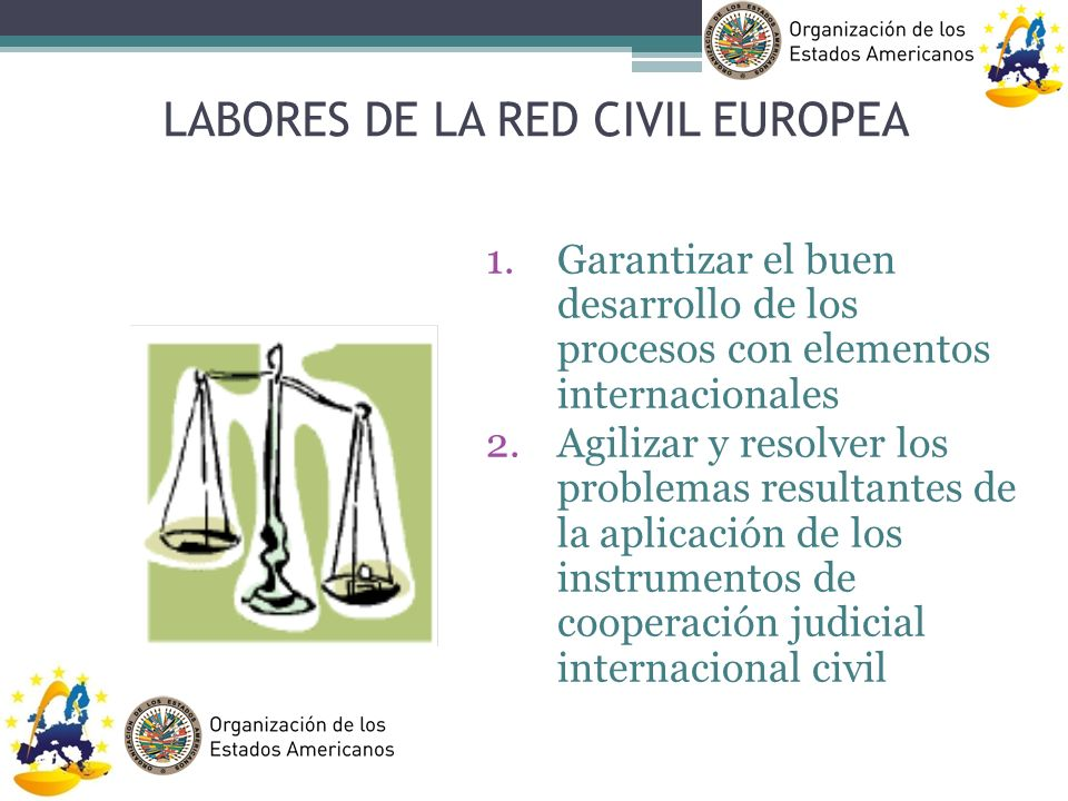 LABORES DE LA RED CIVIL EUROPEA