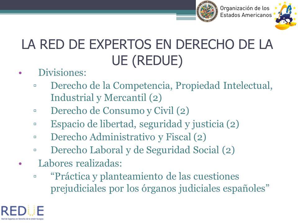 LA RED DE EXPERTOS EN DERECHO DE LA UE (REDUE)